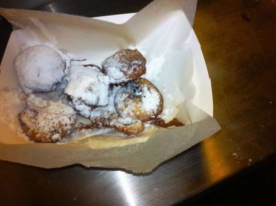 Snack options at Halloween Horror Nights: Fried Oreos.