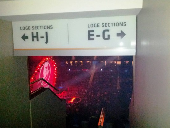 Zac Brown Band at Amway Center - October 27, 2012: Loge Box H, as we first arrived.