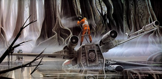 Concept art of Dagobah, courtesy of starwars.wikia.com.