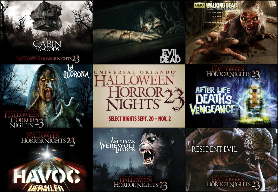 Haunted houses (mazes) for Halloween Horror Nights 2013.