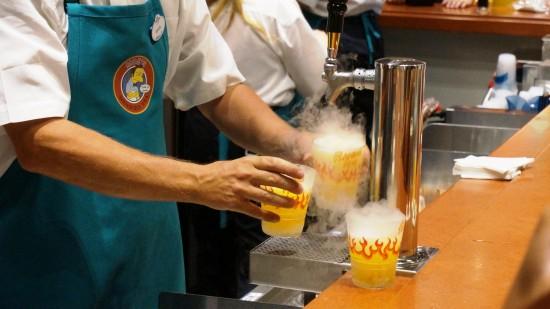 Flaming Moe's served at Moe's Tavern.