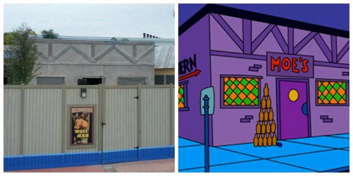 Moe's Tavern comparison - Universal Studios Florida Simpsons expansion.