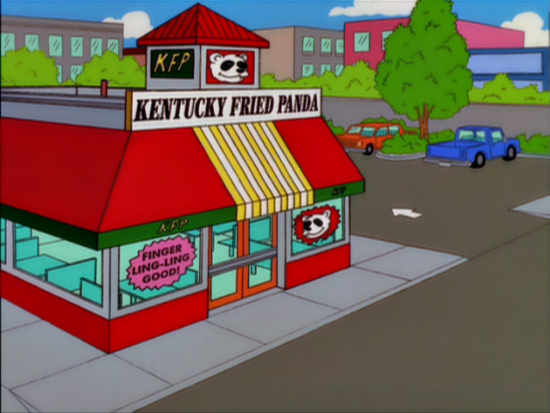 Kentucky Fried Panda from The Simpsons.