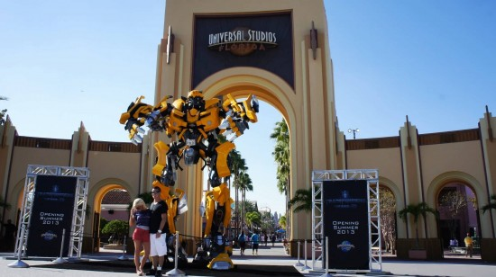 Bumblebee outside of the Universal Studios Florida gates.