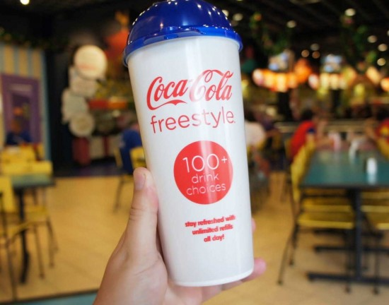 Coke Freestyle cup at Universal Orlando.
