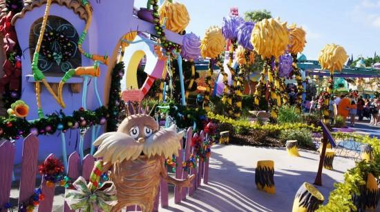 Grinchmas decorations 2012 at Islands of Adventure.