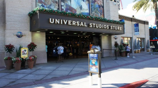 Holiday decorations 2012 at Universal Studios Florida.