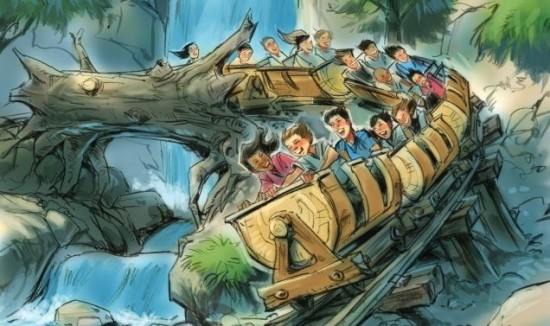 Seven Dwarfs Mine Train concept art.