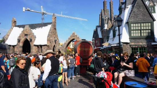 Holiday 2012 crowds inside the Wizarding World of Harry Potter.
