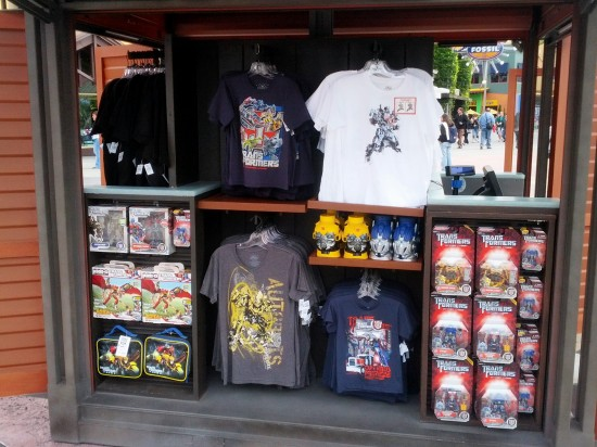 Transformers merchandise kiosk at Universal CityWalk.