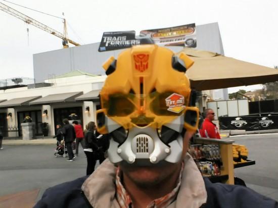Bumblebee mask.