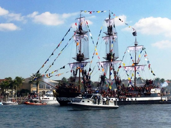 Gasparilla Pirate Fest in Tampa Bay.