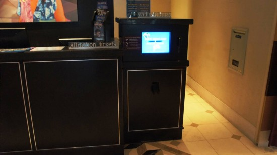 Electronic Will Call Kiosk at Universal's Hard Rock Hotel.