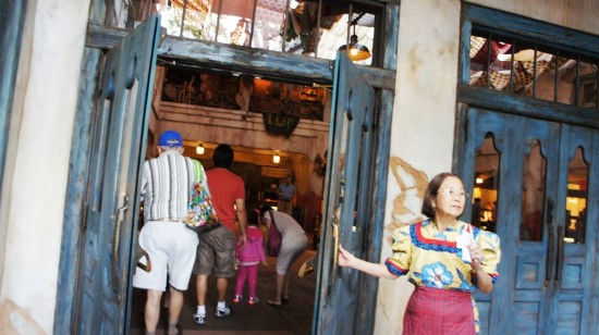 Holding the door at Animal Kingdom's Tusker House.