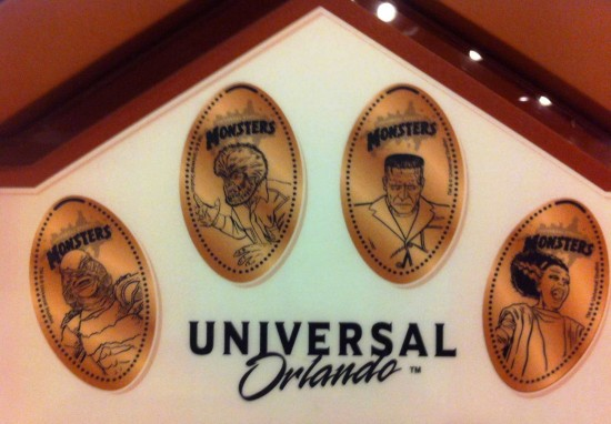Pressed pennies at Universal Orlando.