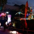 Portions of CityWalk blocked off for New Year's Eve.