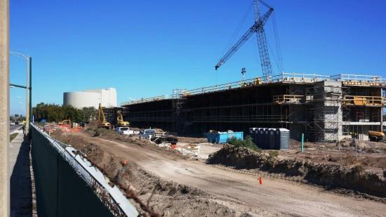 Cabana Bay Beach Resort under construction.