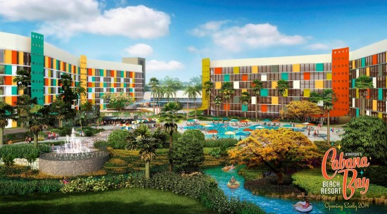 Cabana Bay Beach Resort South Courtyard pool area.