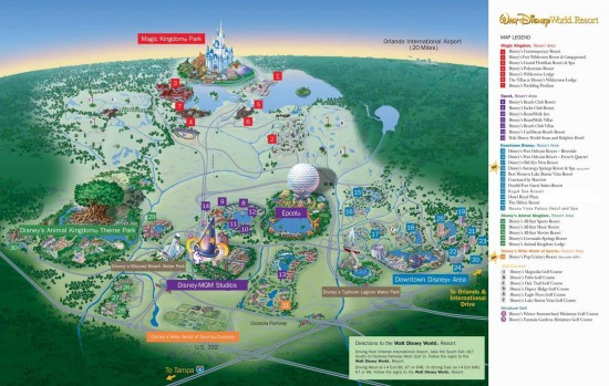 Walt Disney World resort-wide map.