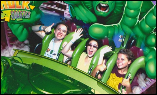 Yo mama on Hulk. Just kidding, that's me on the left!