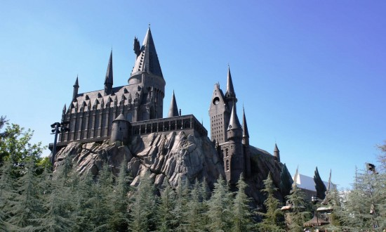 Hogwarts castle inside the Wizarding World of Harry Potter.