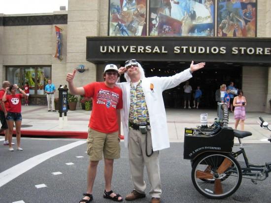 Doc Brown at Universal Studios Florida.