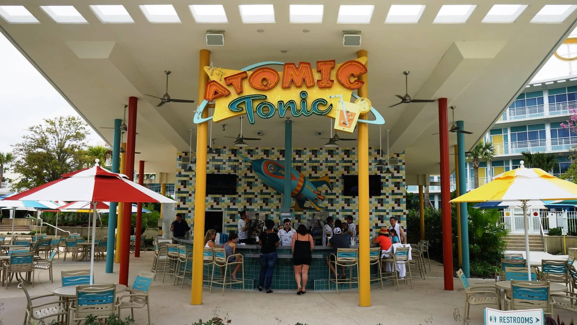 Atomic Tonic poolside bar at Cabana Bay Beach Resort
