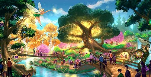 Pixie Hollow concept art.