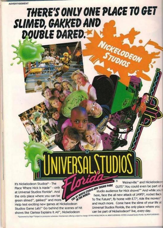 Advertisement for Universal Studios Florida circa 1994.