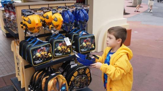 Transformers merchandise at Universal Studios Florida.
