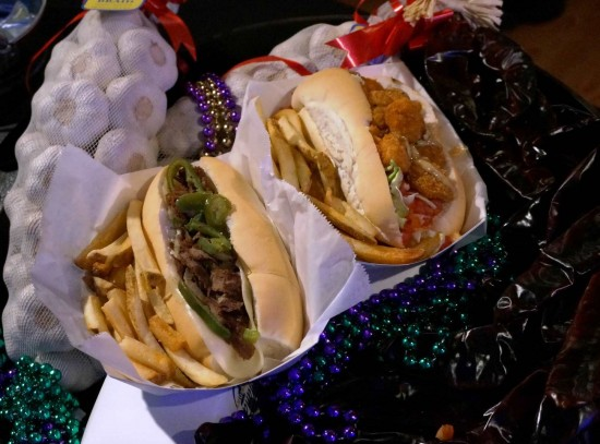 Snack options at Universal Mardi Gras 2013.