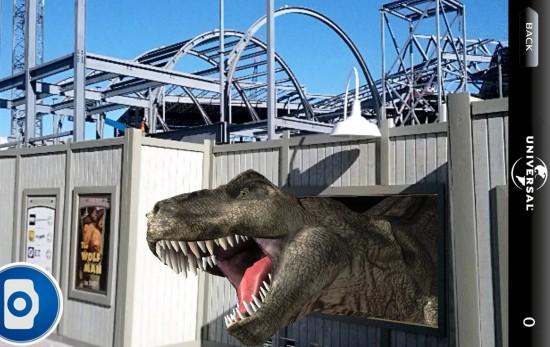 Universal ScreenPlay app - Jurassic Park.
