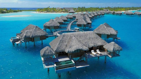Four Seasons Bora Bora bungalows.