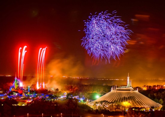 Fireworks over Magic Kingdom.