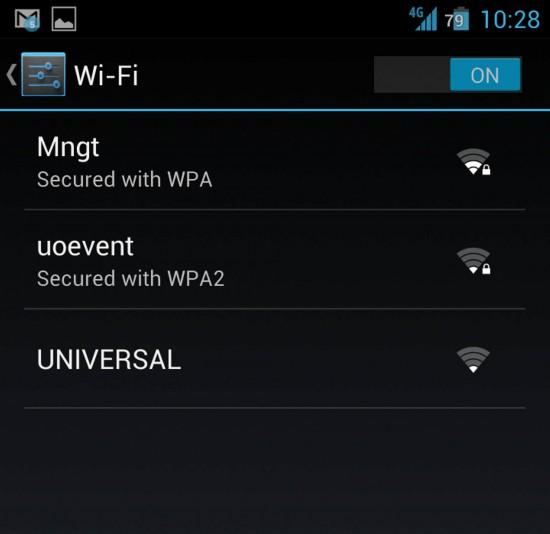 Free public wifi at Universal Orlando.