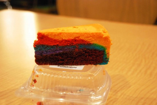 Tie-Dye cheesecake at Everything Pop food court.