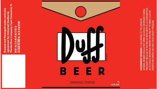 Duff Beer labels?