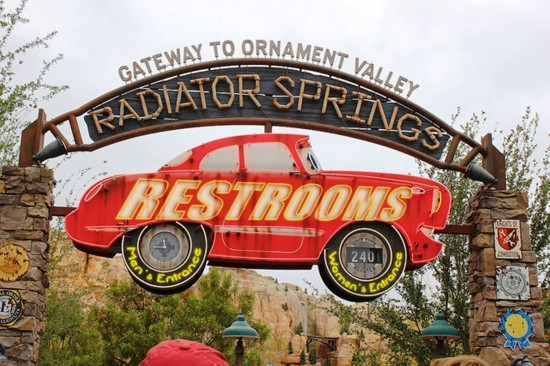 Concepting Radiator Springs restrooms at Disney's Hollywood Studios?