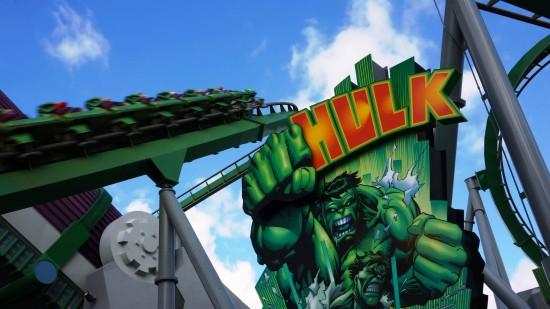 Incredible Hulk at Islands of Adventure.