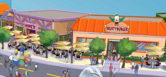 Krusty Burger at Fast Food Blvd at Universal Studios Florida.