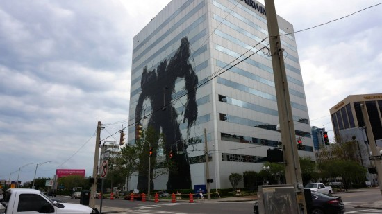 Decepticons attack downtown Orlando.