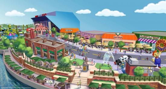 The Simpsons Springfield at Universal Studios Florida.