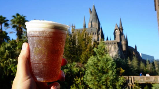 Butterbeer at the Wizarding World of Harry Potter.