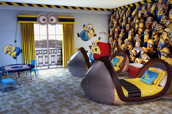 Despicable Me themed Kids Suites at Portofino Bay Hotel.