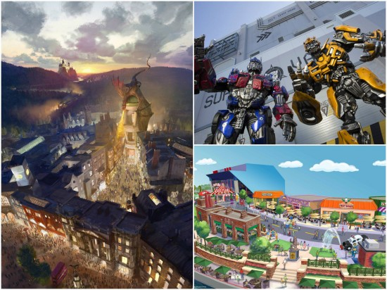 Diagon Alley, Transformers & The Simpsons.