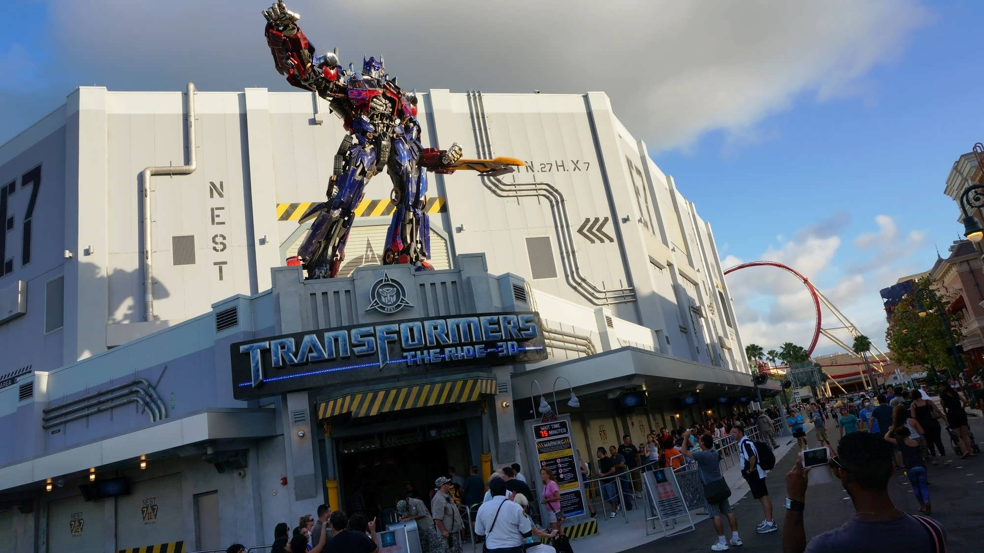 Transformers: The Ride opens for technical rehearsals at ...  Transformers: T...