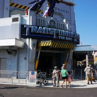 Transformers queue entrance.