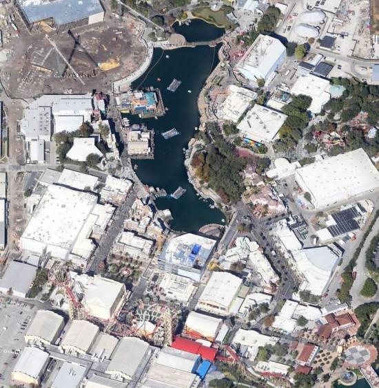 Universal Studios Florida courtesy of Google Maps.