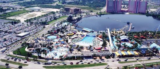 Wet n' Wild Orlando aerial view.