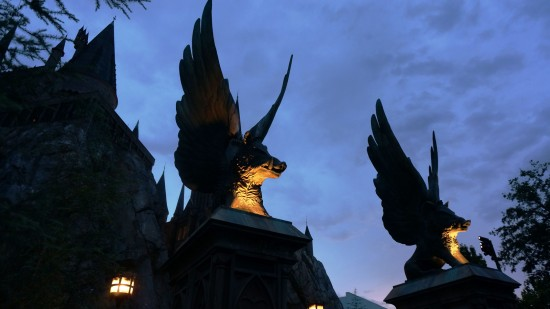 Wizarding World at night. View the full set on our new Flickr page